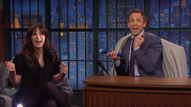 Zooey Deschanel on Seth Meyers
