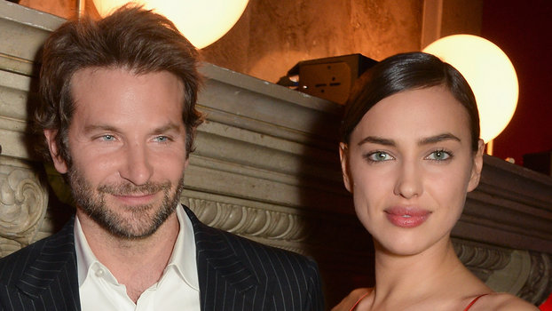 Bradley Cooper and Irina Shayk attends the Red Obsession party in Paris to celebrate L'Oreal Paris's partnership with Paris Fashion Week. L'Oreal Paris spokesmodels accessorised with accents of red to celebrate the launch of the new Color Riche La Palette