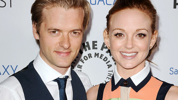 Jayma Mays and Adam Campbell