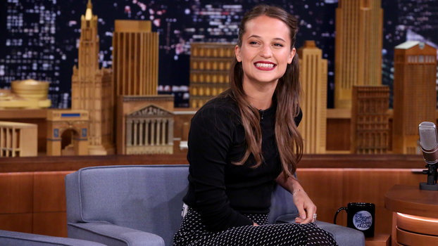Watch Alicia Vikander School Jimmy Fallon In The Swedish