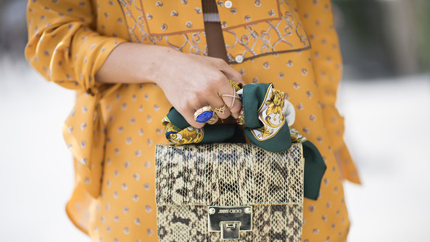 How To Tie A Scarf To Your Bag 6 Styling Ideas Instyle Com