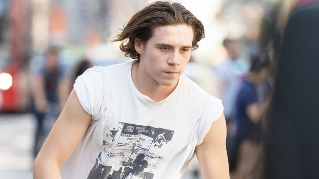 Brooklyn Beckham Skateboarding In Nyc Instyle