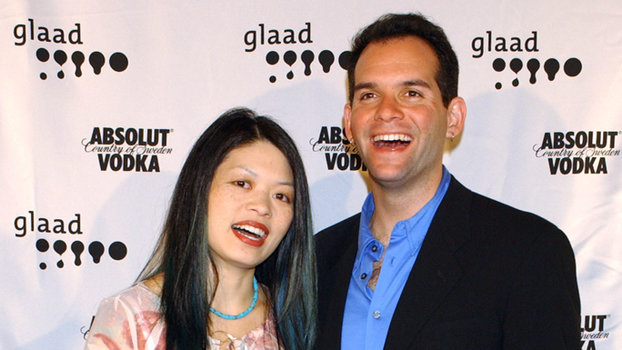 Pam Ling and Judd Winick (Photo by Arun Nevader/WireImage) *** Local Caption ***