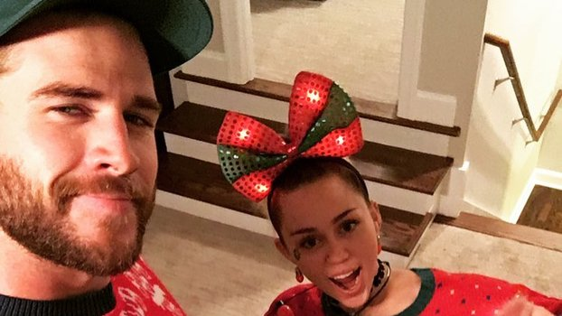 Miley Cyrus Breaks Out Her Ugly Holiday Sweater With The