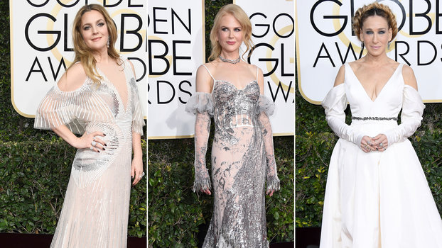 Cut Out Shoulder Fashion Trend At The 2017 Golden Globe Awards