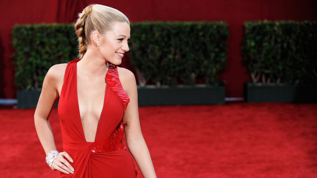 Actress Blake Lively arrives at the 61st Primetime Emmy Awards on Sunday, Sept. 20, 2009, in Los Angeles.