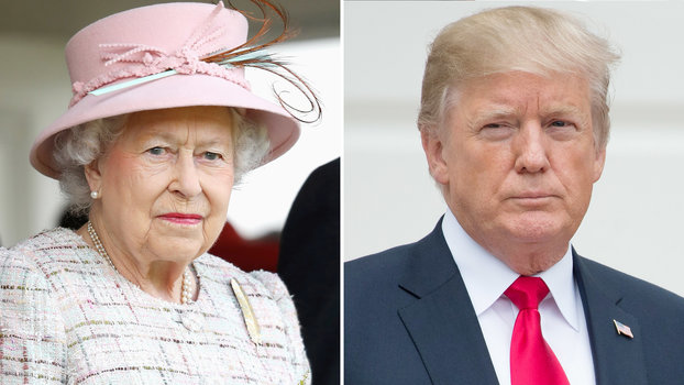 Queen Elizabeth and Donald Trump