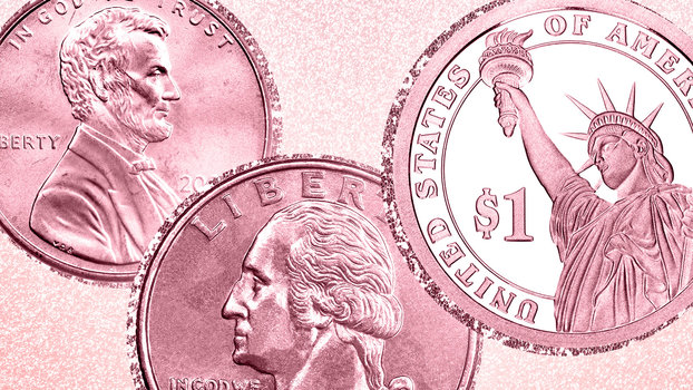 Pink Breast Cancer Coin