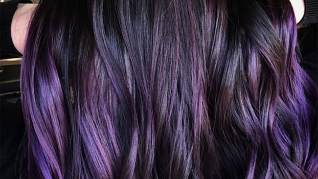 Blackberry Dark Purple Hair Color Trend Instyle Com
