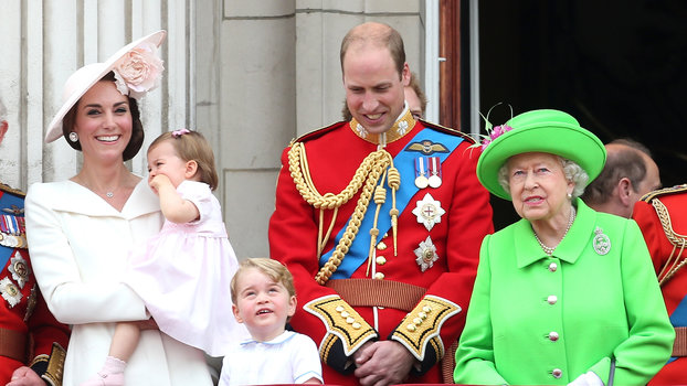 Queen Elizabeth and Kate Middleton lead