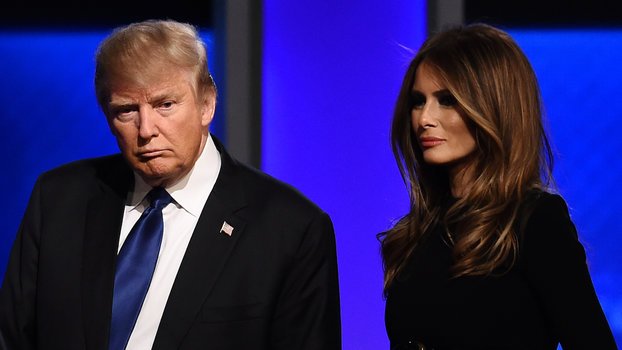 Melania and Donald Trump lead