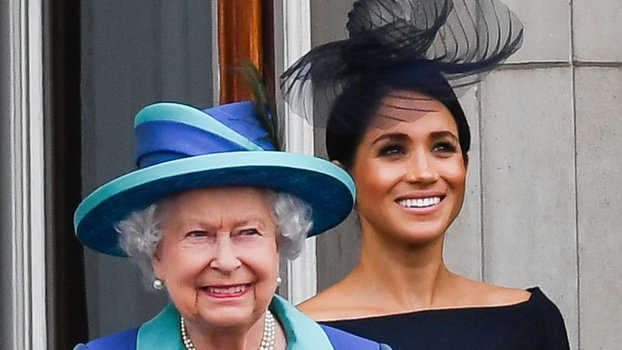 Meghan Markle and Queen at The Centenary Of The RAF