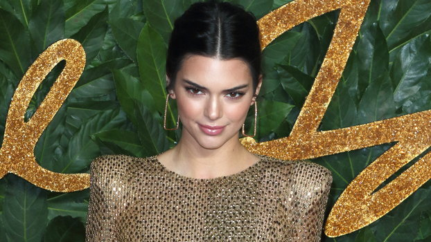 Kendall Jenner seen on the red carpet during the Fashion...