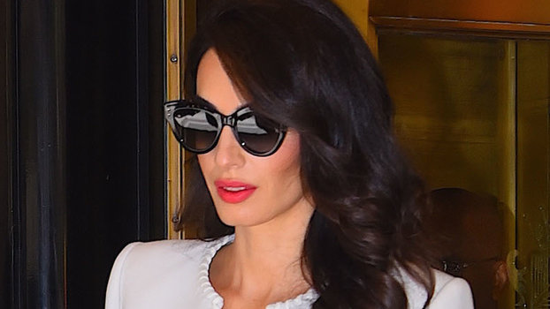 We Hope Amal Clooney Was Carrying a Tide Pen When She Wore This All-White Outfit