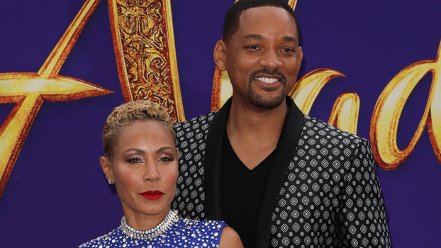 Will Smith and Jada Pinkett Couldn't Keep Their Hands Off Each Other at the Aladdin Premiere