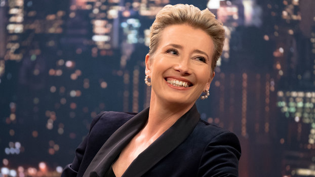 94b14945036 Emma Thompson's Suits in Late Night Are A Master Class | InStyle.com