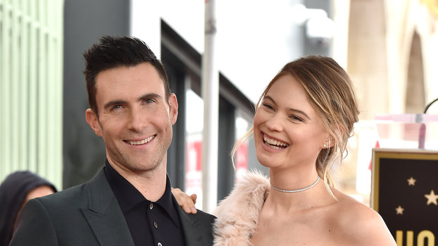 Behati Prinsloo Shared a Cuddly Photo of Her and Adam Levine's Daughters