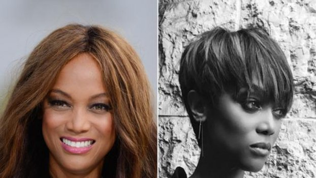 Tyra Banks Chops Her Hair Into A Pixie Instyle Com