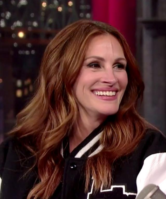 May 13, 2015- Julia Roberts on Daivd Letterman in NY, NY