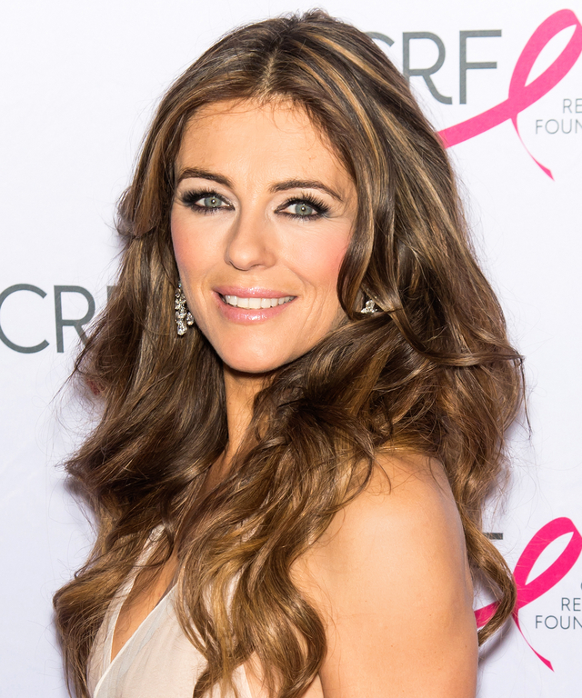 NEW YORK, NY - APRIL 30: Actress Elizabeth Hurley attends The Breast Cancer Research Foundation 2015 Pink Carpet Party at The Waldorf=Astoria on April 30, 2015 in New York City. (Photo by Gilbert Carrasquillo/FilmMagic)