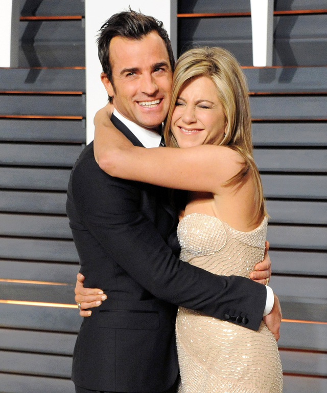 Jennifer Aniston and Justin Theroux FEBRUARY 22 2015