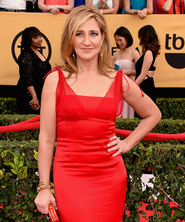 Actress Edie Falco attends the 21st Annual Screen Actors Guild Awards at The Shrine Auditorium on January 25, 2015 in Los Angeles, California.