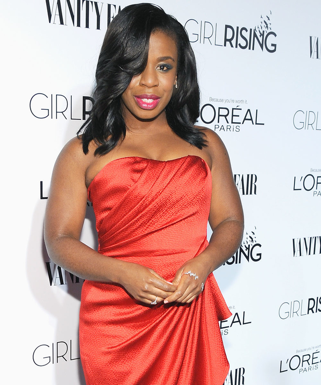 Actress Uzo Aduba attends VANITY FAIR and L'Oreal Paris D.J. Night hosted by Freida Pinto to benefit Girl Rising at 1OAK on February 20, 2015 in Los Angeles, California.