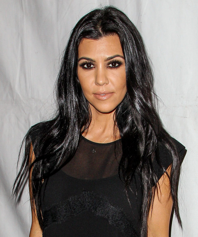 """Kourtney Kardashian attends the Brian Bowen Smith's """"Metallic Life"""" Exhibition Debut at the De Re Gallery on Thursday, Oct. 23, 2015 in Los Angeles. (Photo by Paul A. Hebert/Invision/AP)"""