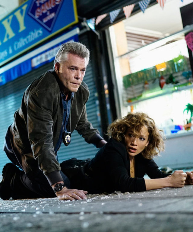 "2015 NBCUniversal Media, LLC SHADES OF BLUE -- ""Original Sin"" Episode 102 -- Pictured: (l-r)  Ray Liotta as Bill Wozniak, Jennifer Lopez as Harlee Santos --  (Photo by: Peter Kramer/NBC)"
