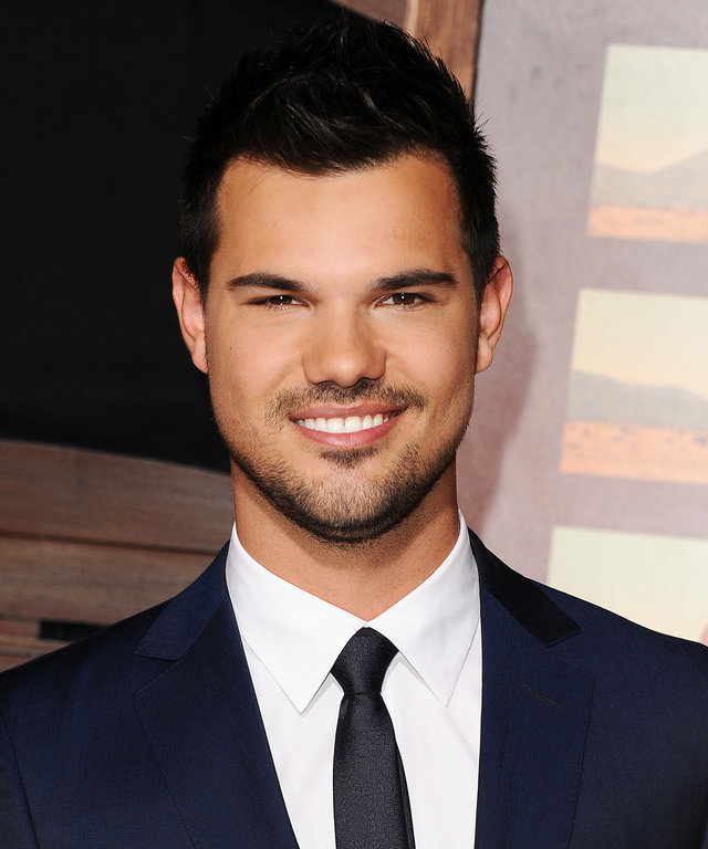 Actor Taylor Lautner attends the premiere of 'The Ridiculous 6' at AMC Universal City Walk on November 30, 2015 in Universal City, California.