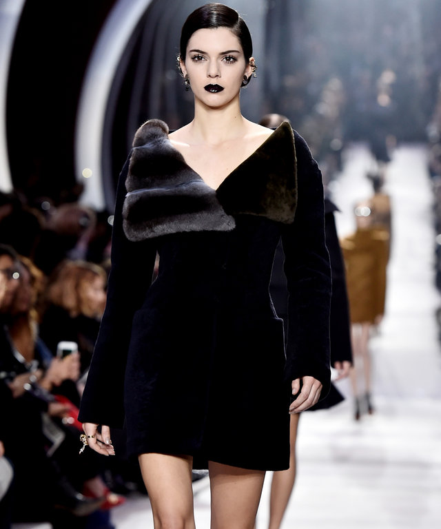 PARIS, FRANCE - MARCH 04:  Kendall Jenner walks the runway during the Christian Dior  show as part of the Paris Fashion Week Womenswear Fall/Winter 2016/2017 on March 4, 2016 in Paris, France.  (Photo by Pascal Le Segretain/Getty Images)