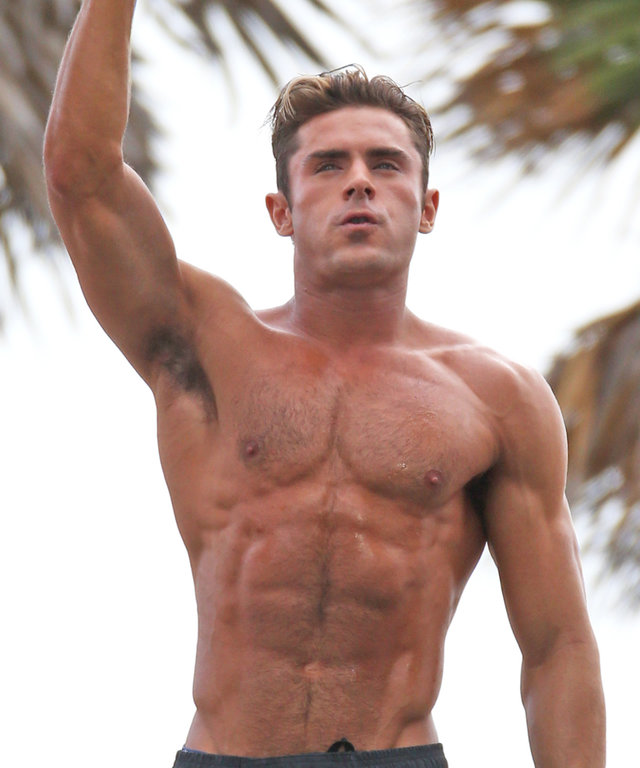Brett Kaffee/Thibault Monnier, © Pacific Coast News149134, Zac Efron shows off his amazing abs on a Lifeguard obstacle course the set of 'Baywatch' in Miami. Miami, Florida - Tuesday March 08, 2016. Photograph: Brett Kaffee/Thibault Monnier, © Pacific Coa