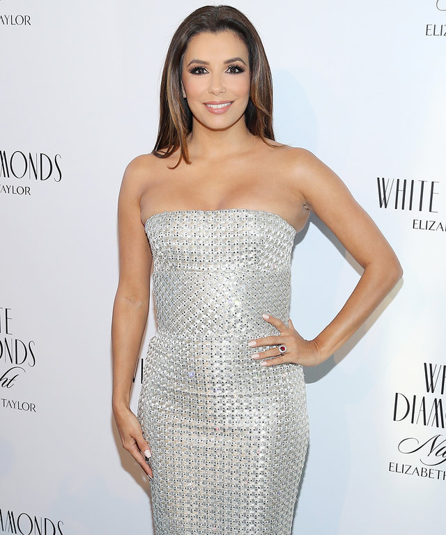 NEW YORK, NEW YORK - APRIL 05:  Actress Eva Longoria poses for a photo at the Elizabeth Taylor White Diamonds 25th Anniversary Celebration at The Glasshouses on April 5, 2016 in New York City.  (Photo by Jemal Countess/Getty Images)