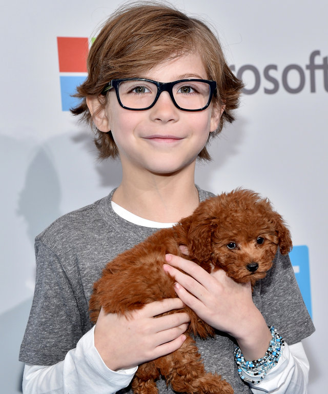 INGLEWOOD, CA - APRIL 07:  Nine-year-old, multi-award-winning actor Jacob Tremblay walks the WE Carpet at WE Day California 2016 at The Forum on April 7, 2016 in Inglewood, California.  (Photo by Mike Windle/Getty Images for WE Day )