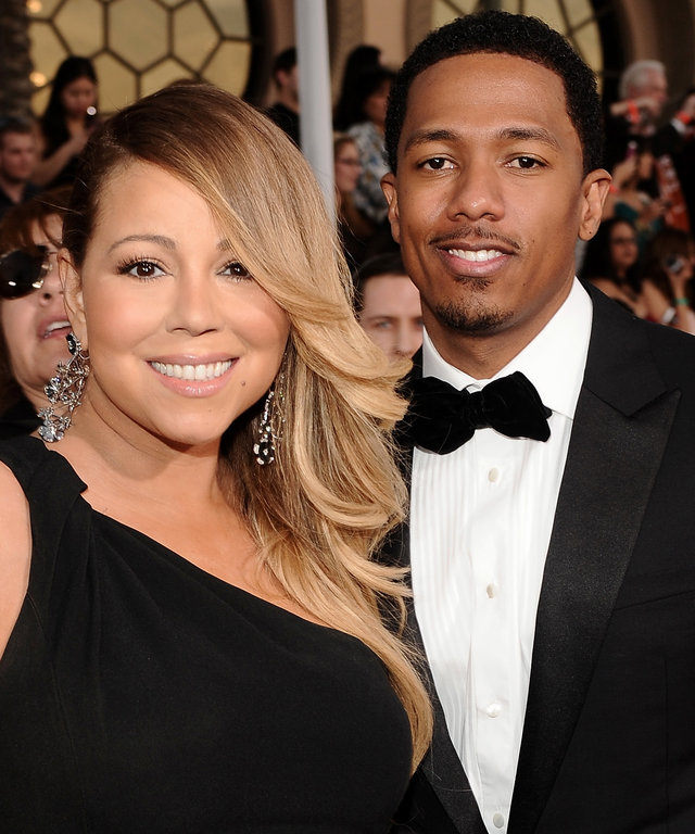 LOS ANGELES, CA - JANUARY 18:  Singer Mariah Carey (L) and tv personality Nick Cannon attend 20th Annual Screen Actors Guild Awards at The Shrine Auditorium on January 18, 2014 in Los Angeles, California.  (Photo by Stefanie Keenan/WireImage)