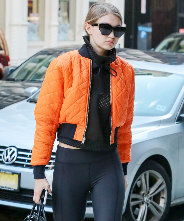 NEW YORK, NY - MAY 08: Gigi Hadid is seen on May 08, 2016 in New York City.  (Photo by Ignat/Bauer-Griffin/GC Images)