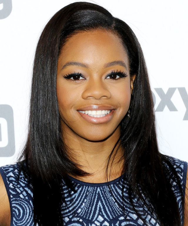 NEW YORK, NY - MAY 14:  Gymnast Gabby Douglas attends the 2015 NBCUniversal Cable Entertainment Upfront at The Jacob K. Javits Convention Center on May 14, 2015 in New York City.  (Photo by Jim Spellman/WireImage)