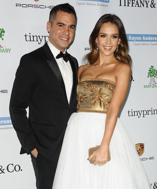 CULVER CITY, CA - NOVEMBER 08:  Cash Warren and Jessica Alba attend the 2014 Baby2Baby gala at The Book Bindery on November 8, 2014 in Culver City, California.  (Photo by Jason LaVeris/FilmMagic)