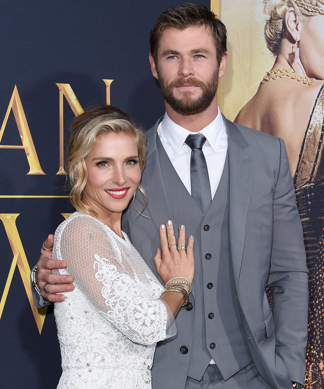 WESTWOOD, CA - APRIL 11:  Actors Elsa Pataky and Chris Hemsworth arrive at the premiere of Universal Pictures' 'The Huntsman: Winter's War' on April 11, 2016 in Westwood, California.  (Photo by Axelle/Bauer-Griffin/FilmMagic)