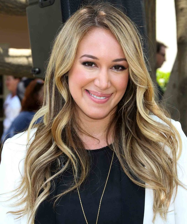 "CENTURY CITY, CA - JUNE 09:  Actress Haylie Duff attends ""Napoleon Dynamite"" 10 sweet years Blu-Ray/DVD release and statue dedication at The Fox Studio Lot on June 9, 2014 in Century City, California.  (Photo by Paul Archuleta/FilmMagic)"