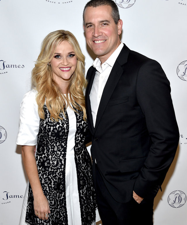 NASHVILLE, TN - OCTOBER 28: Reese Witherspoon and Jim Toth attend the Draper James Nashville store opening on October 28, 2015 in Nashville, Tennessee.  (Photo by John Shearer/Getty Images for Draper James)