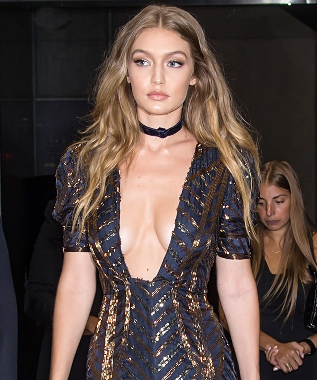 NEW YORK, NY - SEPTEMBER 08:  Model Gigi Hadid is seen leaving The Daily Front Row's 4th Annual Fashion Media Awards at Park Hyatt New York on September 8, 2016 in New York City.  (Photo by Gilbert Carrasquillo/GC Images)