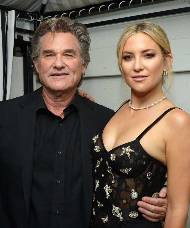 "TORONTO, ON - SEPTEMBER 13:  Actors Kurt Russell (L) and Kate Hudson attend the ""Deepwater Horizon"" premiere screening party presented by Johnnie Walker at The Addison Residence on September 13, 2016 in Toronto, Canada.  (Photo by Matt Winkelmeyer/Getty)"