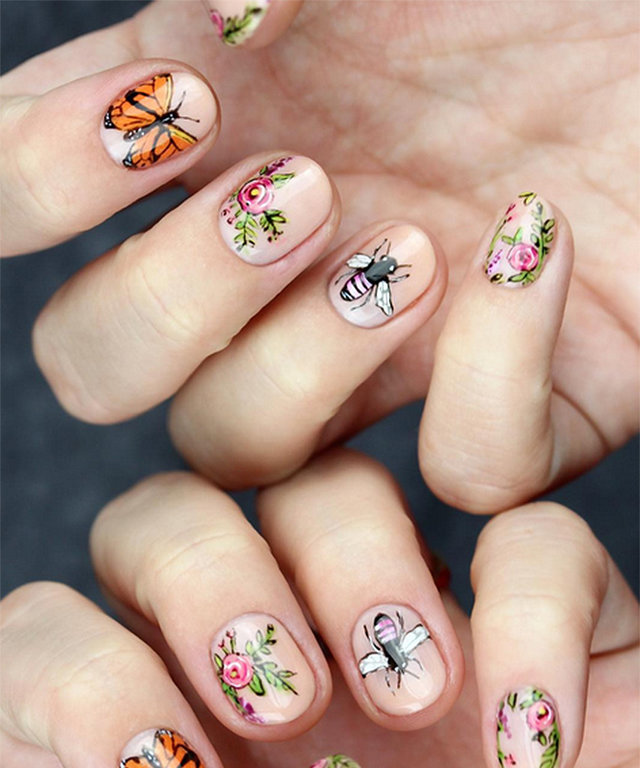 Floral Nail Art That Will Make You Say Whoa!