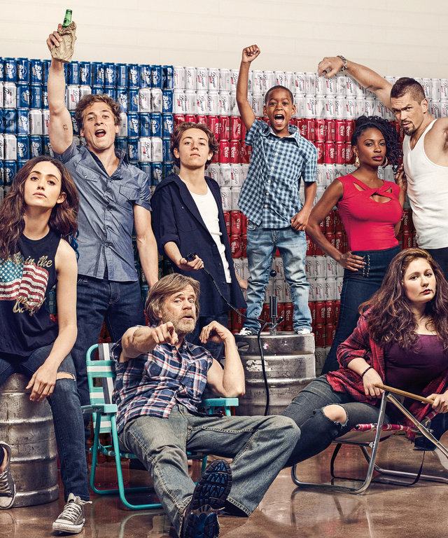 Cameron Monaghan as Ian Gallagher, Emmy Rossum as Fiona Gallagher, Jeremy Allen White as Lip Gallagher, William H. Macy as Frank Gallagher, Ethan Cutkosky as Carl Gallagher, Brandon/Brenden Sims as Liam Gallagher, Shanola Hampton as Veronica Fisher, Emma