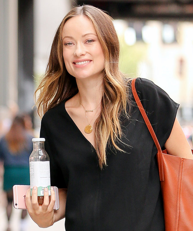 Olivia Wilde Shows Off Her Growing Bump in a Casual-Chic Maxidress