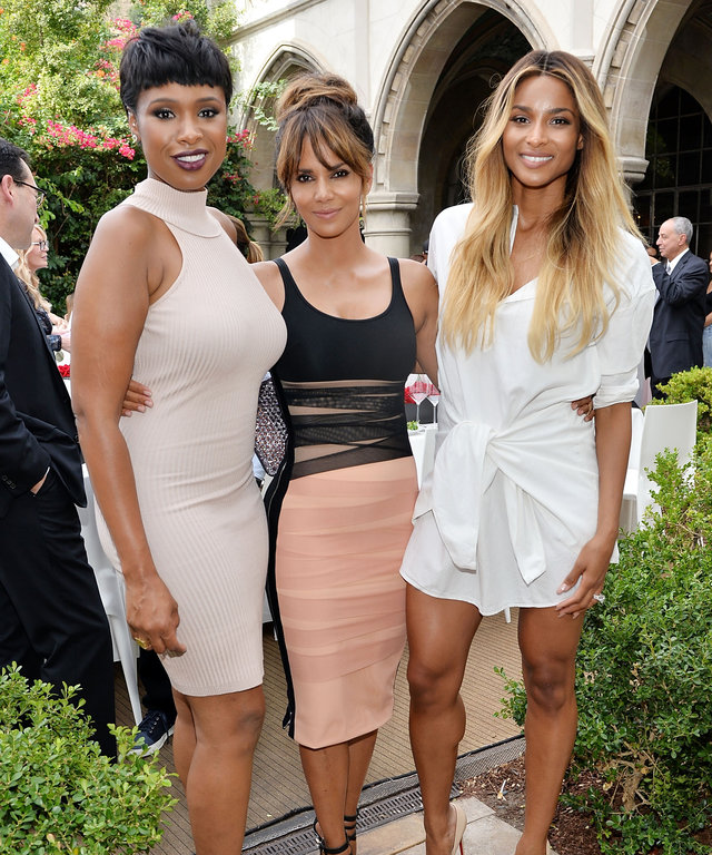LOS ANGELES, CA - SEPTEMBER 27: Jennifer Hudson, Halle Berry, and Ciara attend Revlon's Annual Philanthropic Luncheon in support of the Revlon Women's Health Mission and to honor the achievements of Dr. Dennis Slamon at the Chateau Marmont on September 27