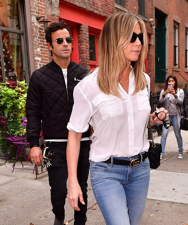 Jennifer Aniston and Justin Theroux Head Out for Some Retail Therapy in New York
