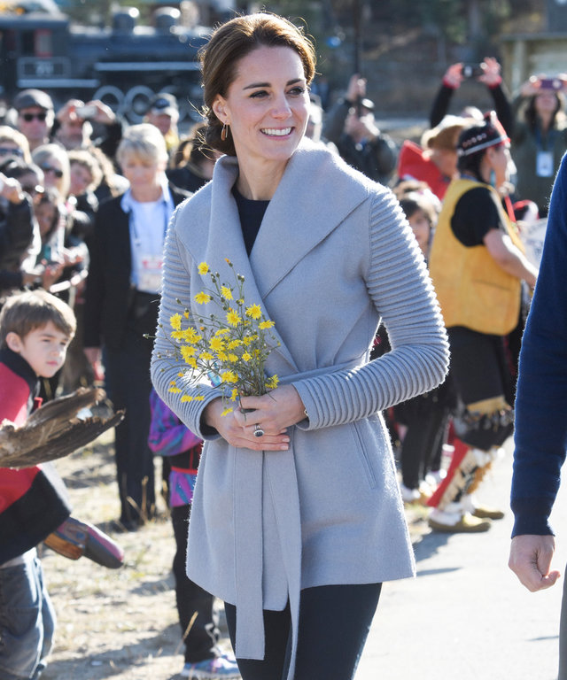 Kate Middleton Opts for a Cozy Gray Coat and Cowboy Boots for a Mountain Trek