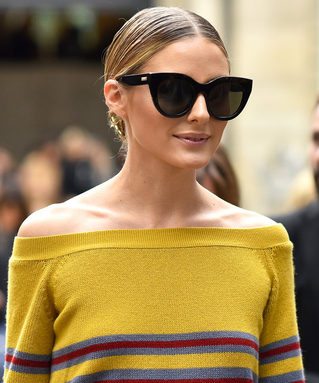 PARIS, FRANCE - OCTOBER 02:  Olivia Palermo is seen leaving Valentino fashion show during Paris Fashion Week Spring/Summer 2017 on October 2, 2016 in Paris, France.  (Photo by Jacopo Raule/GC Images)